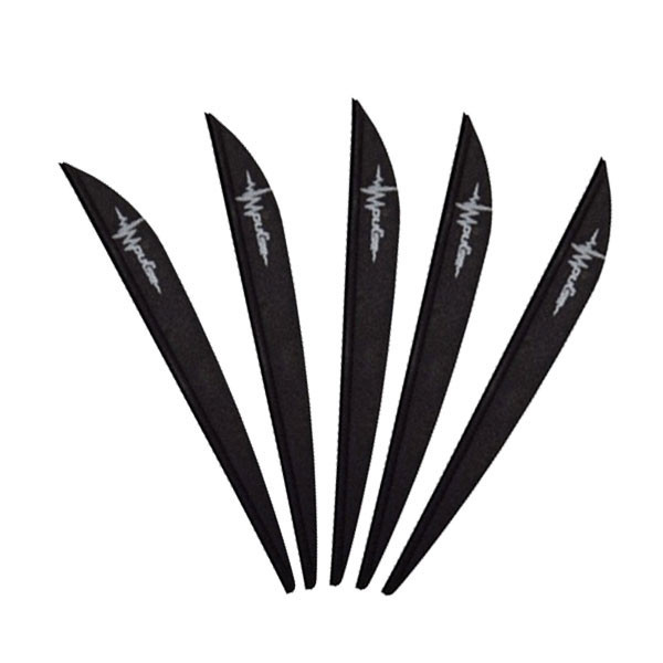 Bohning 4in Impulse Vane Black 12 Pack