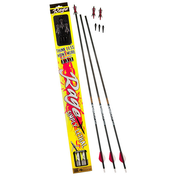 Rage Simply Lethal Arrow Package w/ 2 Blade Chisel