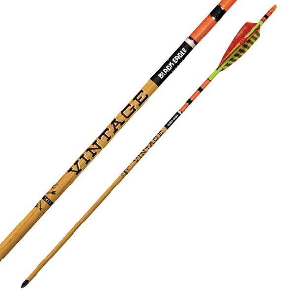"Black Eagle Vintage Crested Feathers Yellow/Orange - .005"" 6 Pack - 350"