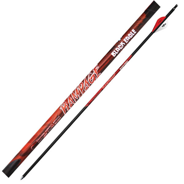"Black Eagle Rampage Fletched Arrows - .003"" 6 Pack - 350"