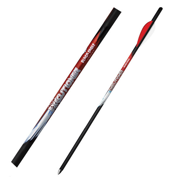 "Black Eagle Executioner Crossbow Fletched Arrows - .001"" 6 Pack - 20"" - 3"" Bohning X Vane"