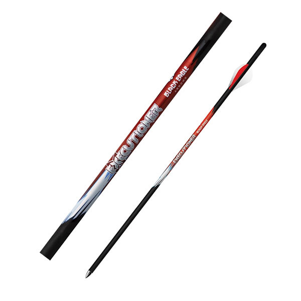 "Black Eagle Executioner Crossbow Fletched 18"" Arrows - .001"" 6 Pack -  2"" Bohning Blazer Vane"