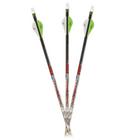 """Carbon Express Maxima Red Badlands SD 250 Arrows w/ 2"""" Blazer Vanes - 6pk"""