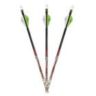 """Carbon Express Maxima Red Badlands 350 Arrows w/ 2"""" Blazer Vanes - 6pk"""