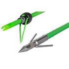TRUGLO Fiberglass Bowfishing Arrow w/Lunker Arrow Point & Slide