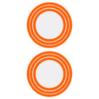 Shrewd Decal Ring for 42mm Scope/Lens Retainer Ring 3 Step Orange - 2 Pack