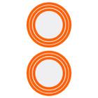 Shrewd Decal Ring for 42mm Scope/Lens Retainer Ring 3 Step Orange - 2 Pack