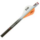 Trophy Taker Shrink Fletch- White Tube / 2 Neon Orange & 1 White Blazer Vanes