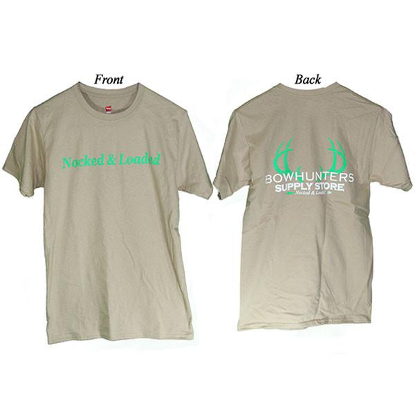 Bowhunters Supply Store Tee Pebble/Green Medium
