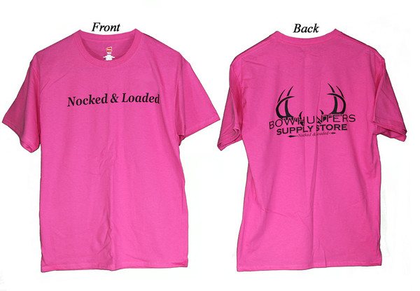Bowhunters Supply Store Tee Wow Pink/Black Large