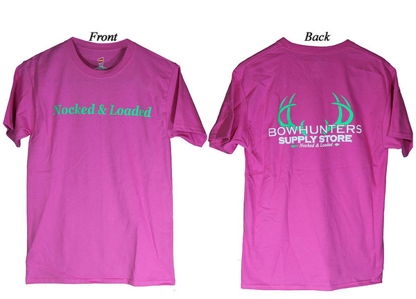 Bowhunters Supply Store Tee Wow Pink/Green 2XL