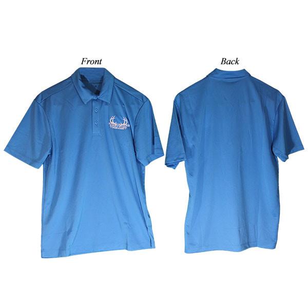 Bowhunters Supply Store Polo Brilliant Blue/White Medium