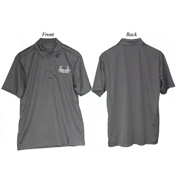 Bowhunters Supply Store Polo Steel Gray/White Medium