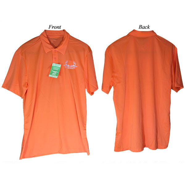 Bowhunters Supply Store Polo Neon Orange/White Medium