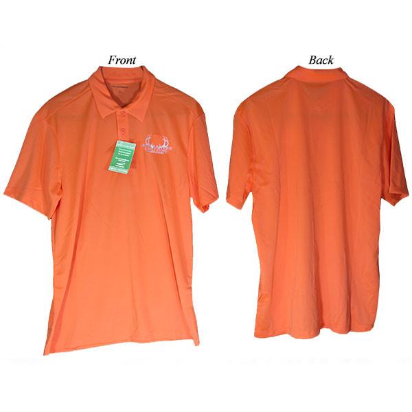 Bowhunters Supply Store Polo Neon Orange/White 3XL