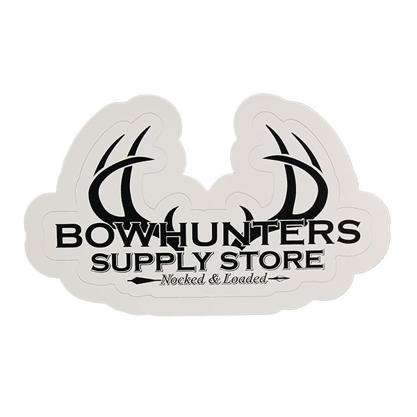 Bowhunters Supply Store 4 x 2.25 Decal w/Black Antlers