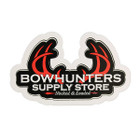 Bowhunters Supply Store 4 x 2.25 Decal w/Red Antlers