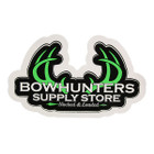 Bowhunters Supply Store 4 x 2.25 Decal w/Green Antlers