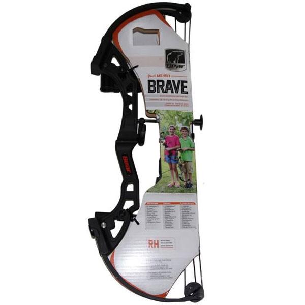 Bear Archery Brave Bow Set w/Biscuit RH Black