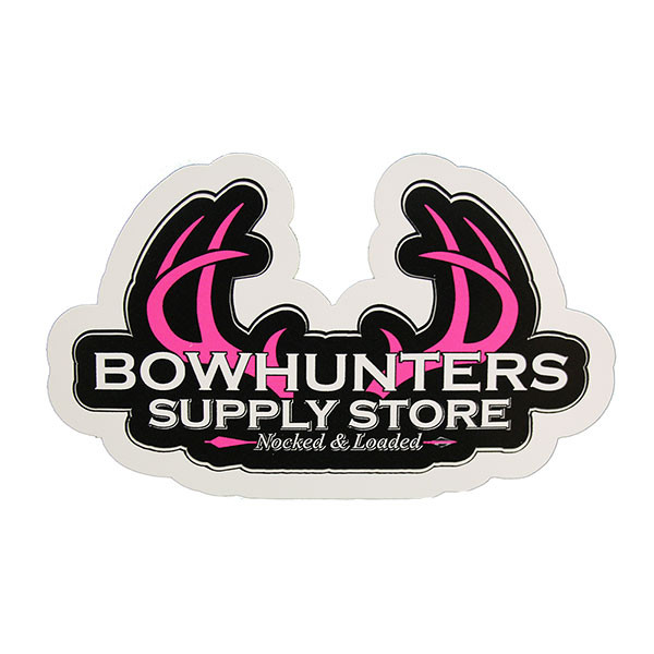 """Bowhunters Supply Store 4"""" Pink Logo Decal"""