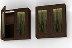 9206 Illuminated Wall Cabinet in Cocoa