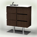9209 Spa Drawers on Stand w/ Sink in Cocoa
