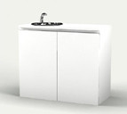 9211 Spa Cabinet w/ Sink in White