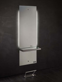 Salon Ambience MI/370 Lunar Mirror Station with Shelf
