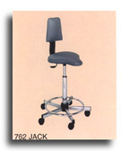 Pibbs 762 Jack Stool with Backrest