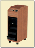 Pibbs D38WD Lockable Mobile Station w/Casters in Wood Laminate