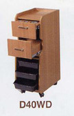 Pibbs D40WD Mobile Station w/Casters in Wood Laminate