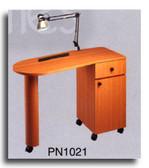 Pibbs PN1021 Laminated Angle Top Nail Center w/Lamp & Pad
