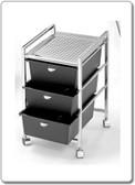 Pibbs D23 3 Drawer Cart with Metal Frame