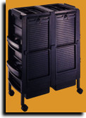 Kayline DC100-P Lockable Double Cabinet Cart