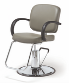 Pibbs 3606 Messina Styling Chair with Round Base