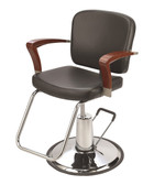Pibbs 3806 Verona Styling Chair in BLACK with Round Base