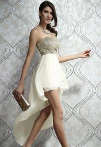 Plus Size Charming Boulevard Sequined Long Dress Beige