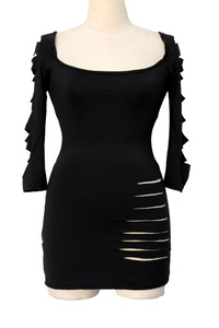 Black Plus Barracuda Club Dress