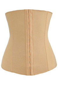 Plus Size Apricot 4 Steel Bones Sport Waist Slimming Shaping Corset
