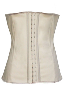 Plus Size Creamy 9 Steel Bones Latex Under Bust Corset