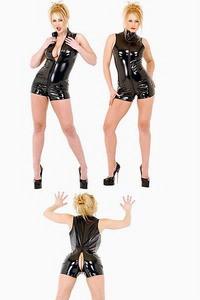Sexy Black vinyl lingerie