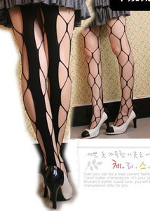 Sexy Black Stretch Spider Web Hexagon Net Tights Pantyhose Leggings