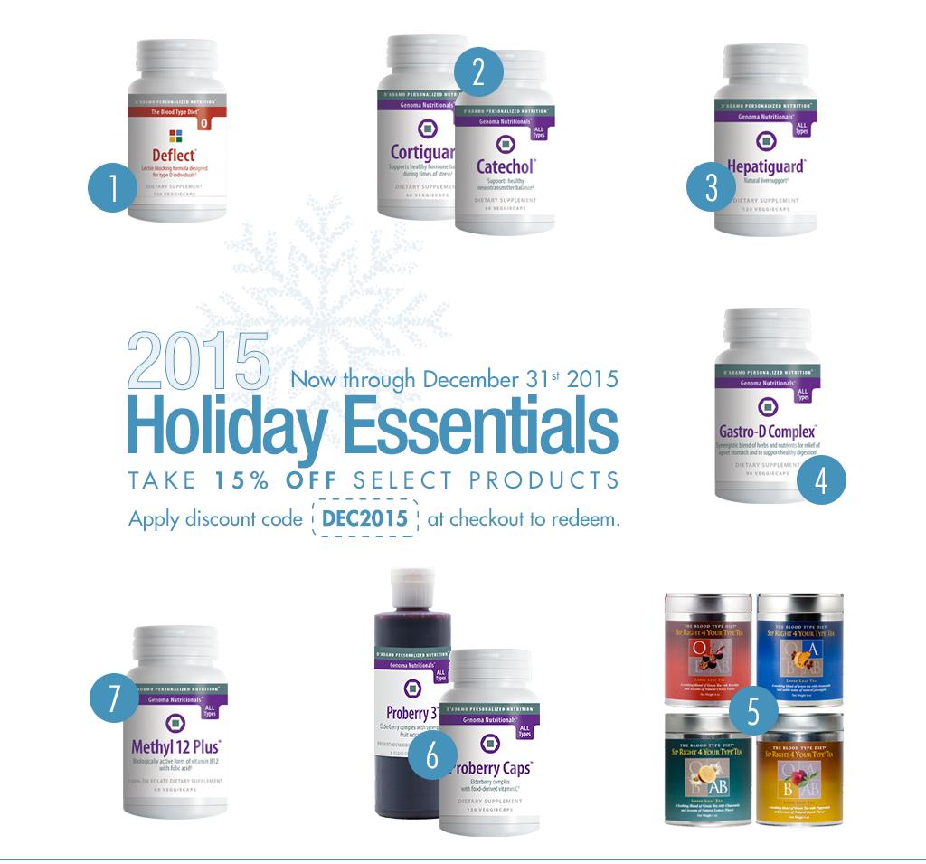 15% Off Holiday Essentials
