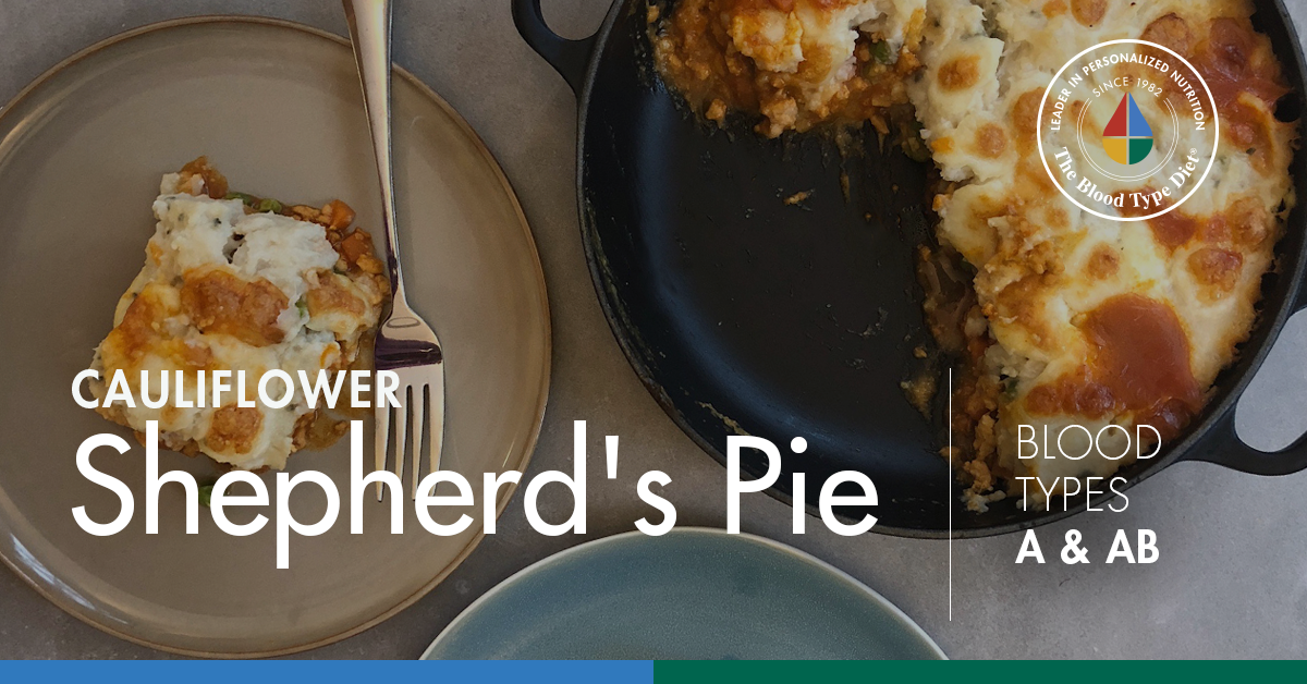 Cauliflower Shepherd's Pie (Blood Types A & AB)