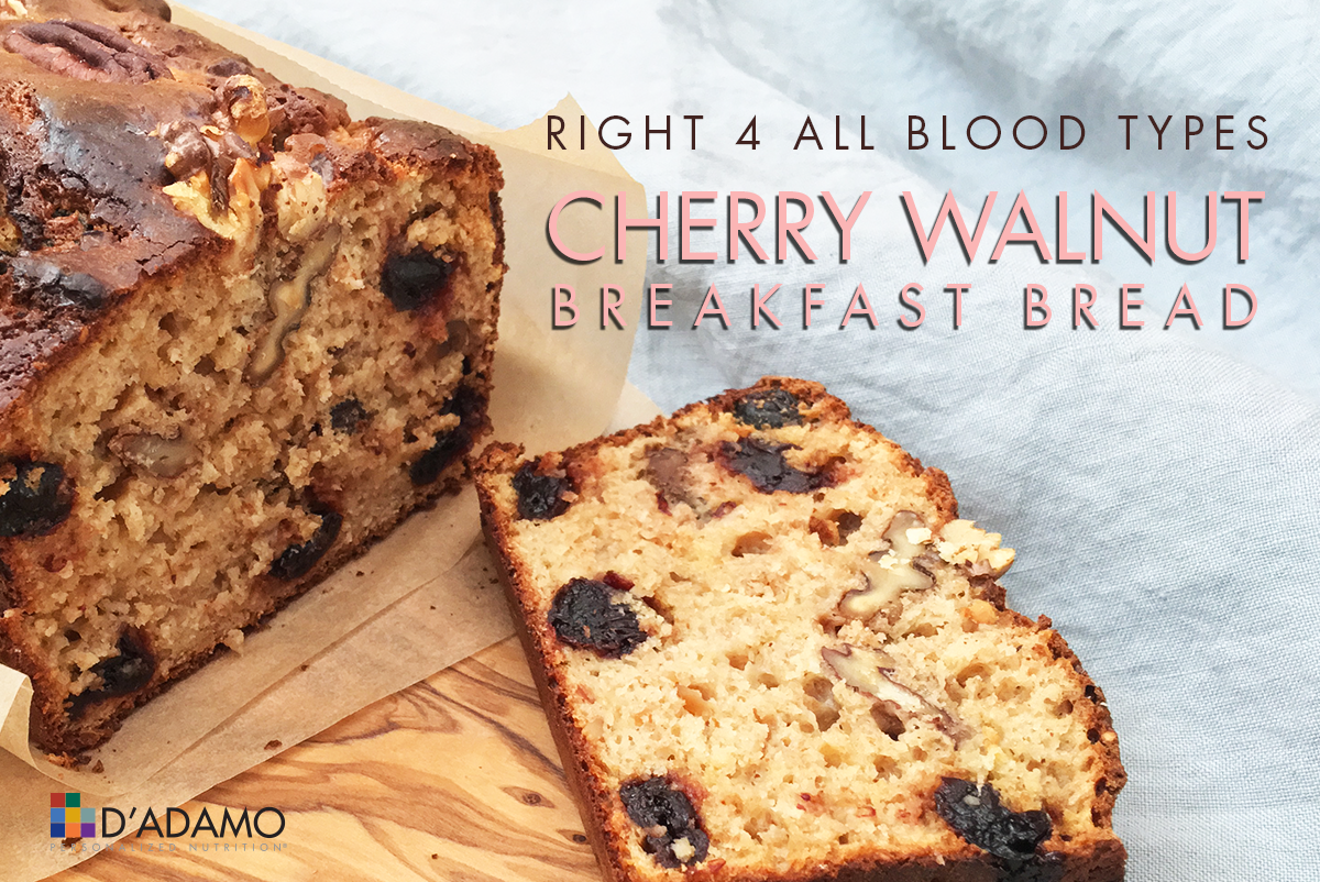 Cherry Walnut Breakfast Bread