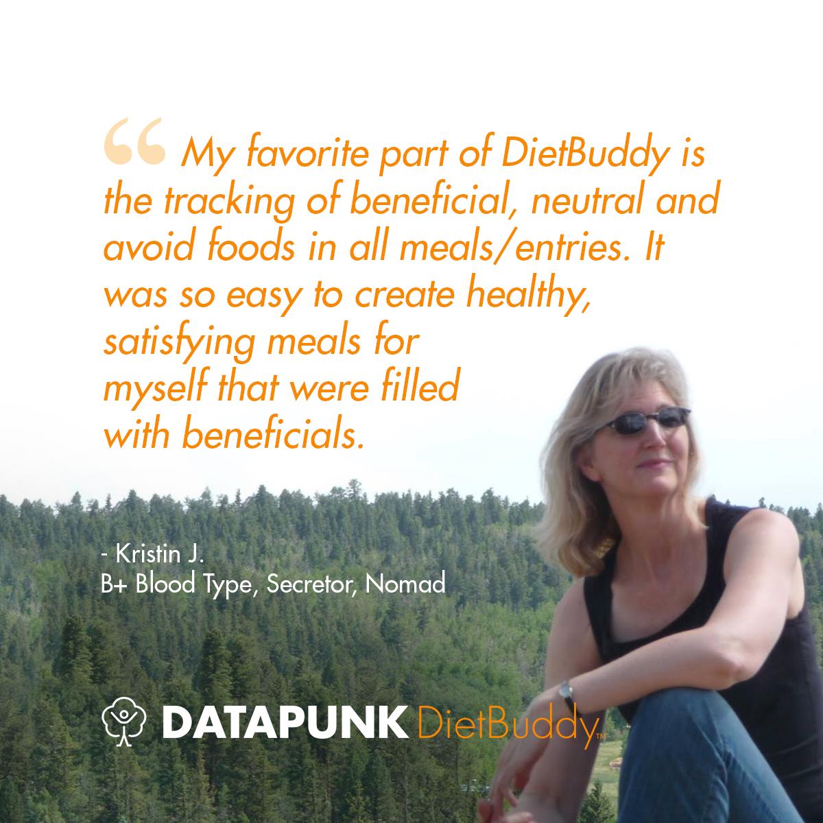 Kristin J. - DietBuddy Testimonial