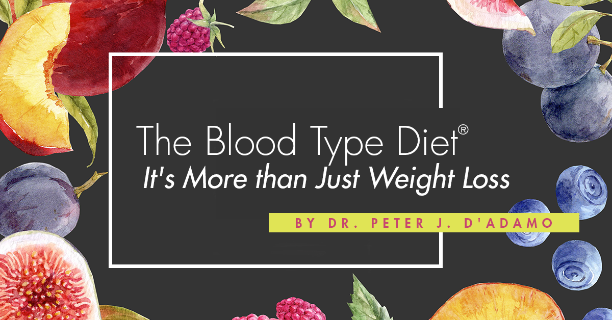 The Blood Type Diet: It's More than Just Weight Loss by Dr. Peter J. D'Adamo
