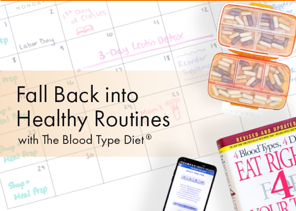 Fall Back into Healthy Routines with The Blood Type Diet