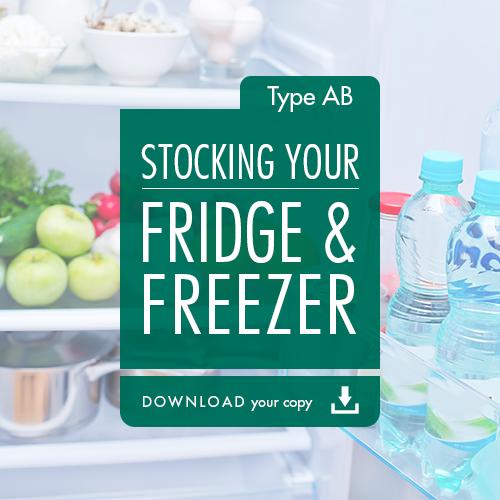 Blood Type Diet - Stocking Your Fridge & Freezer