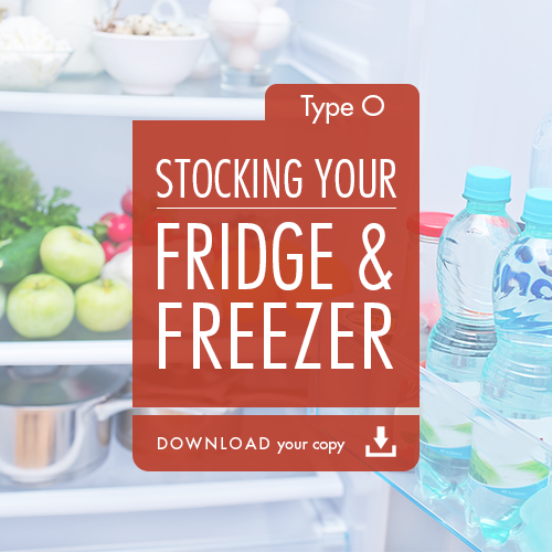 Blood Type Diet - Stocking Your Fridge & Freezer